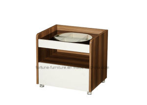 Bedroom Furniture/Modern Wooden Walnut & White Bedside Table (B1082) pictures & photos
