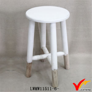 Reclaimed Country Shabby Chic 3 Leg Wooden Stool pictures & photos