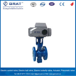Flange Connection V-Port Electric Ball Valve pictures & photos