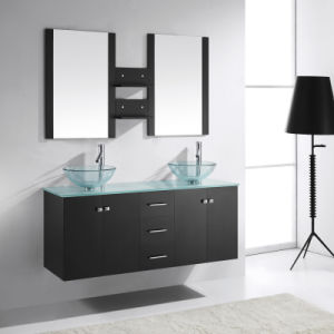 Solid Oak Wood Wall Hung Modern Bathroom Vanity