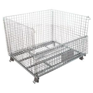 Storage Steel Wire Mesh Roll Container with Wheels