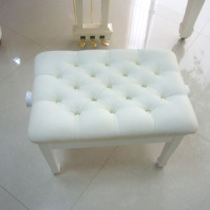 White Solid Wood Piano Bench pictures & photos