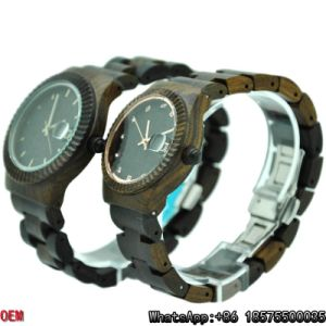 Top-Quality Maple/Red/Ebony-Wooden Watches Quartz Watches Hl12 pictures & photos