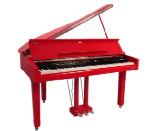 Modern 88 Key Red Mini Digital Grand Piano