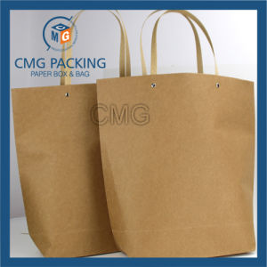 Fancy Design Brown Kraft Paper Bag for Shopping (DM-GPBB-165) pictures & photos