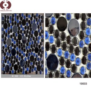 Round Marble Glass Ceramic Mosaic for Wall Decoration (19003) pictures & photos
