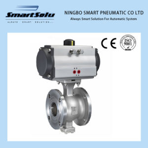 Stainless Steel Pneumatic Ball Valve (pneumatic actuator) pictures & photos