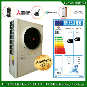 Germany Cold -25c Winter Floor 100~350sq Meter House Heating 12kw/19kw/35kw Condensor Indoor Air Heat Pump Evi Split High Cop pictures & photos