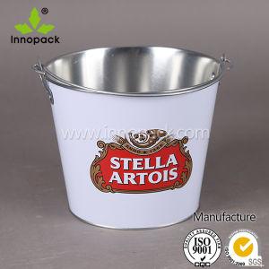 5qt Printed Metal Beer Ice Bucket pictures & photos