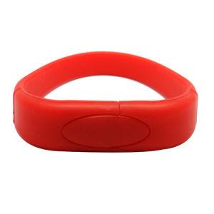 Eco- Friendly Custom Shape Flash Memory Silicon Bracelet pictures & photos