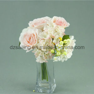 Artificial Rose & Hydrangea Bouquet Flower for Decoration (SF12496) pictures & photos