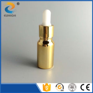 Shiny Gold Electroplating Essential Oil Glass Bottle