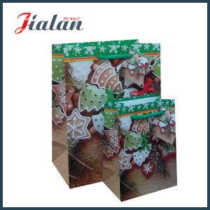 2017 Christmas Day Cotton Rope Logo Printed Custom Paper Bag pictures & photos