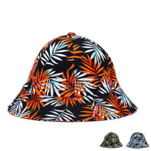 Lady Fashion Leaves Printed Cotton Twill Bucket Hats (YKY3215) pictures & photos
