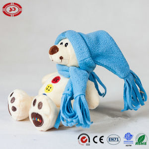 Xmas White Teddy Bear Plush Toy with Blue Hat Gift pictures & photos