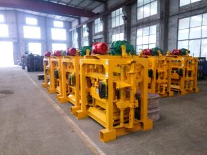 Manual Concrete Hollow Block Interlocking Brick Making Machine pictures & photos