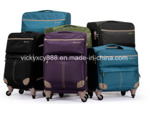 4 Wheels Waterproof Trolley Wheeled Luggage Travel Bag Case (CY3395) pictures & photos