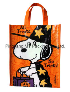 Various Fabric Available Printing BOPP Laminated Nonwoven Shopper Bag pictures & photos