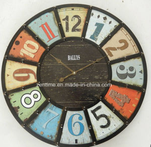 MDF+Metal Large Size Wall Clock pictures & photos