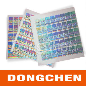 3D Rainbow Color Anti Fake Holographic Security Label pictures & photos