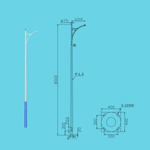 Street Lamp Pole-8 Meters Lp-a-8