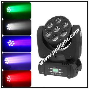 7*12W Osram RGBW LED Moving Head Beam Light