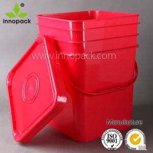 PP 20L Red Square Plastic Container with Lid Wholesale pictures & photos