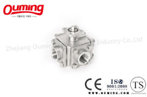Four Way Threaded End Ball Valve with Mouting Pad pictures & photos