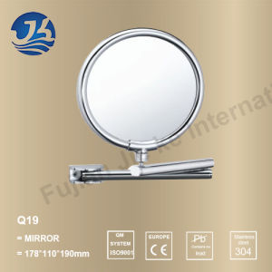 Stainless Steel Bathroom Stand up Travel Mirror Q19