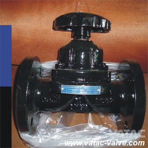 Weir Type Cast Iron/Ci/C. I Gg25&A126 B Flanged RF Diaphragm Valve pictures & photos