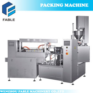 Pre-Pouch Vacuum Packing Line for Food with Sauce pictures & photos