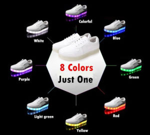 2016 Hot Sale 7 Color LED Shoes with Custom Sizes and Competitive Price pictures & photos