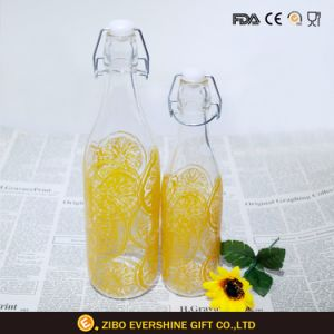 Beverage Juice Glass Bottles with Swing Top Lids pictures & photos
