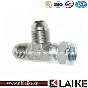 (CJ) Jic Male/Female Run Tee Hydraulic Adapter
