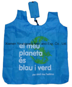 Custom Advertising Eco Friendly Recycle Folding Nylon Shopping Tote Bag pictures & photos