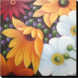 Color Spectacle Handmade Canvas Flower Oil Painting (LH-M170504) pictures & photos