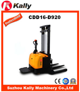 Wide Leg Straddle Electric Stacker (CDD16-D920) pictures & photos
