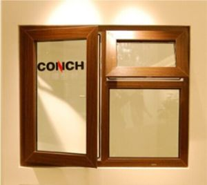 Conch 65 Knight Bridge Type Casement PVC/UPVC Window pictures & photos