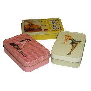 Hot Sale Slide Sex Tablet Metal Tin Box for Promotion Gift pictures & photos