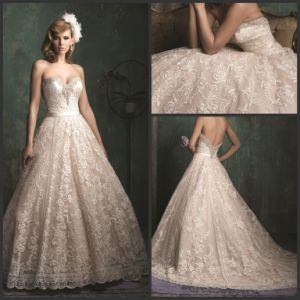 Lace Bridal Ball Gowns Strapless A-Line Wedding Dresses Z3048 pictures & photos