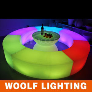 Nightclub Illuminated Curved Benches Chairs pictures & photos