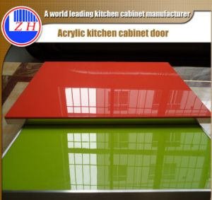 Cabinet Door Designs with Handles and PVC Edge Banding (customized) pictures & photos