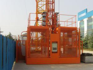 Sc200/200 Double Cage Construction Building Hoist 2ton Construction Elevator pictures & photos