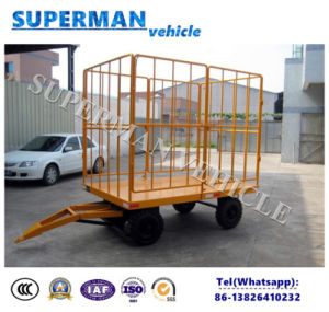 1t Utility Flatbed Luggage Cargo Transport Full Trailer/Drawbar Trailer pictures & photos