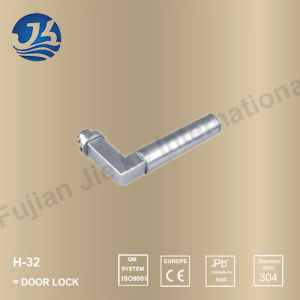 Stainless Steel 304 Simple Design Door Handle Lock (H-32)