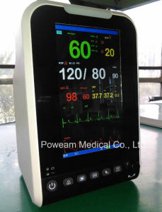 LCD Hanheld Vital Sign Portabe Patient Monitor (POWEAM 1000) pictures & photos