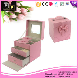 China Factory Vogue High Quality Custom Leather jewellery Box Packaging Drawer (8414) pictures & photos