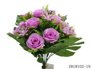 Artificial/Plastic/Silk Flower Rose Bush (2818102-19) pictures & photos