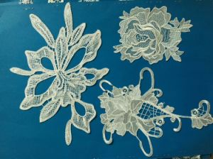 High Quality Bridal Applique Lace 100%