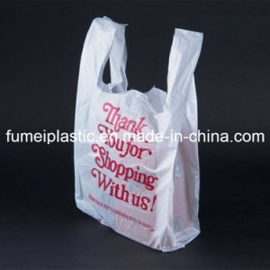 Supermarket Biodegradable Transparent PE LDPE HDPE Packaging Shopping T-Shirt Bag